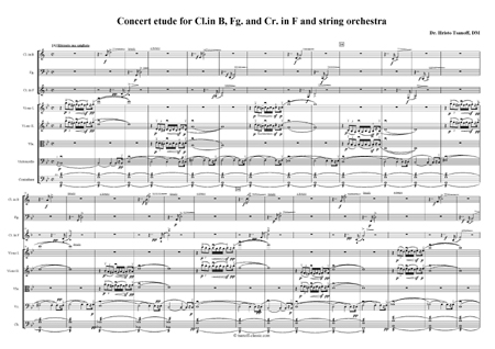 Concert etude for Cl. in B, Fg., Cr. in F and string orchestra